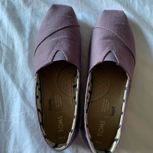 Purple canvas Classic Toms (7.5) - new